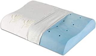 The White Willow Cervical Orthopedic Memory Foam Cooling Gel Contour Neck Support Sleeping Bed Pillow With Removable Zip C...