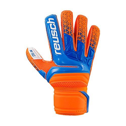 Reusch Prisma SG Finger Support - Guanti da portiere da uomo, 8,4 cm, colore: Arancione/Blu