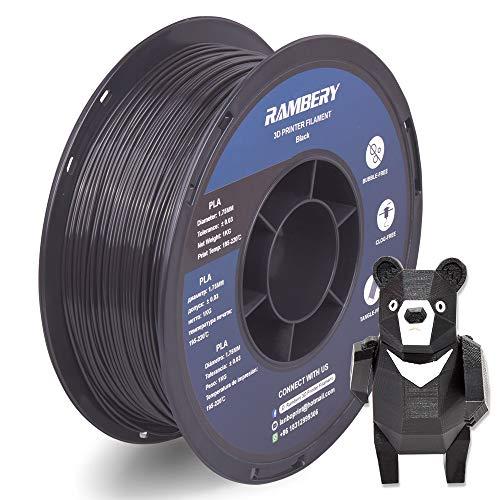 PLA 3D Printer Filament 1.75 mm PLA Filament 1 kg for 3D Printers Black