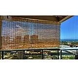 Filit Persiana Exterior Enrollable, persianas de bambú para Ventana, de caña, persiana Romana, Cortina de luz, Protector Solar, a Prueba de Humedad, Personalizable,100x200cm/39.5x79in