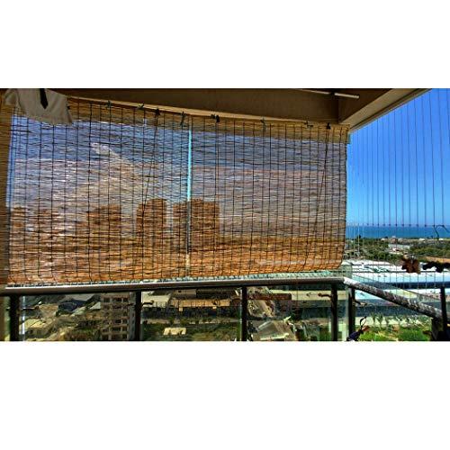 Filit Persiana Exterior Enrollable, persianas de bambú para Ventana, de caña, persiana Romana, Cortina de luz, Protector Solar, a Prueba de Humedad, Personalizable,140x200cm/55x79in
