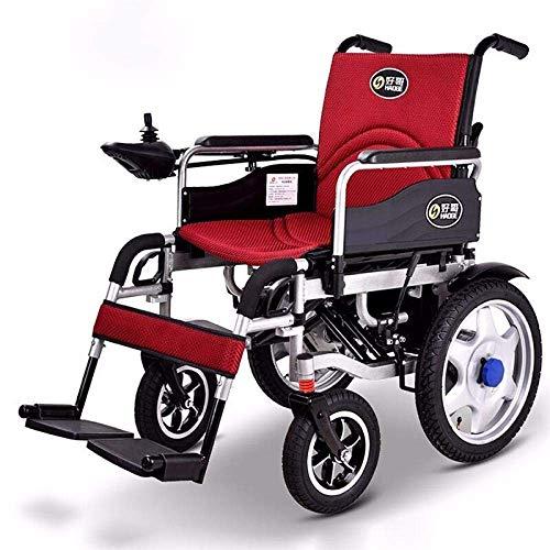TYT Silla de ruedas eléctrica para personas mayores con discapacidad Scooter ligero plegable para personas mayores tipo todoterreno,Batería de litio ligera [amortiguación] 12ah
