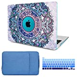 CiSoo Case for MacBook Pro 15 Inch Case 2015 2014 2013 2012 Mandala Laptop Hard Shell Case for Model Number A1398, Keyboard Cover, Sleeve, Protective Bag for MacBook Pro 15'' with Retina Display