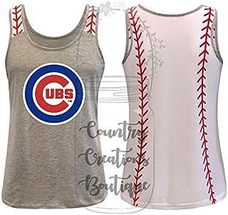 Cubs Baseball Tank Top Shirt Razorback Tanks