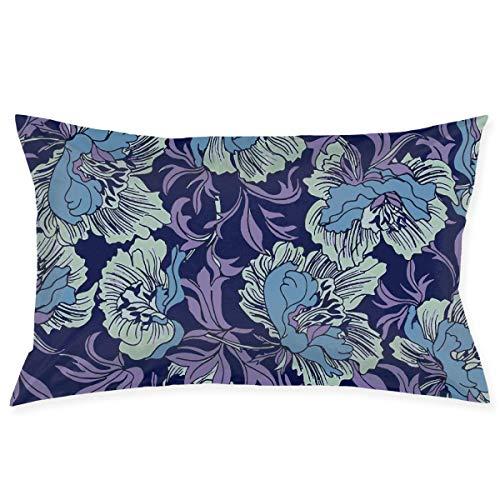 tyui7 Pillowcase Flower Art-02 Decorative Pillow Cover Soft and Cozy, Standard Size 75x50 cm with Hidden Zipper