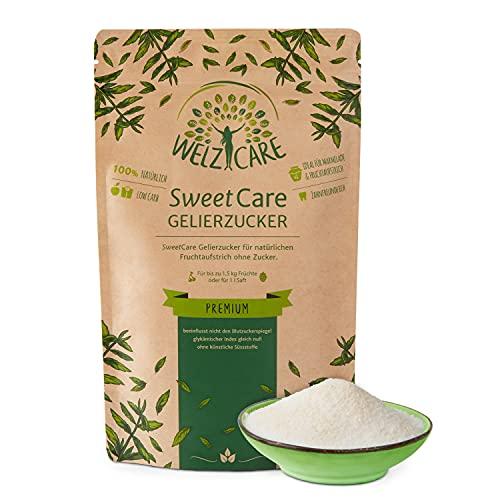Azúcar gelificante SweetCare PREMIUM - sustituto del azúcar - 100 % vegano - sin calorías - bajo en carbohidratos - con Eritritol y Stevia - Made in Germany - 200 g