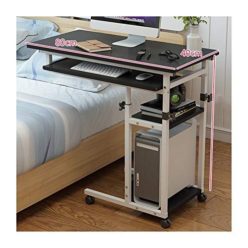 ALBBMY Pflegetisch, Mobiler Betttisch Mit Rollen, Höhenverstellbarer Mobiler Steh-Sitz-Tisch Laptopwagen (Color : Black Willow Wood, Size : Lifting)