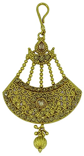 Matra Goldtone Ethnische Bollywood Art Indische Frauen Kopfstück Passa Stirnschmuck