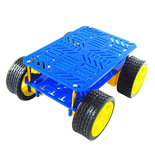 WYY Smart Car Platform voor Arduino DIY,4WD Robot Chassis Kit, Inbouwbare uitbreidingsmodules zoals controllers