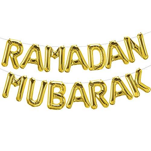 Best Price Ramadan Eid Mubarak Balloons Banner Party Decorations Supplies, Islamic Muslim Ramadan Ei...