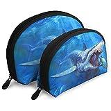 Blue Shark Bolsas portátiles Bolsa de Maquillaje Bolsa de Aseo, Bolsas de Viaje portátiles multifunción Pequeña Bolsa de Embrague de Maquillaje con Cremallera