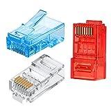 SHULIANCABLE Conectores RJ45, 60 Piezas Conductor Cat6 Conector RJ45 8P8C Blindado para Ethernet Network Cable (CAT6/60piezas)