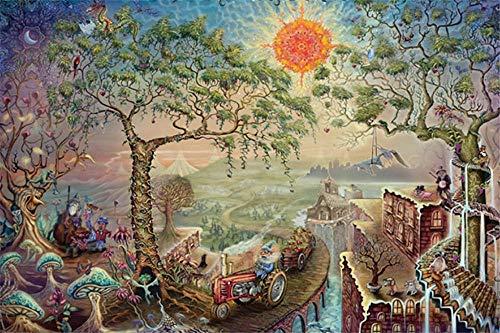 Safiman Puzzle 1500 Pezzi, Sunland, Regalo Classico del Giocattolo del Puzzle, 87X57Cm