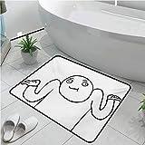 Humor Kitchen Floor Mat Entrance Door Mat 20x30 Inch Whatever Guy Meme Confusion Gesture Label Creative Drawing Rage Makers Design