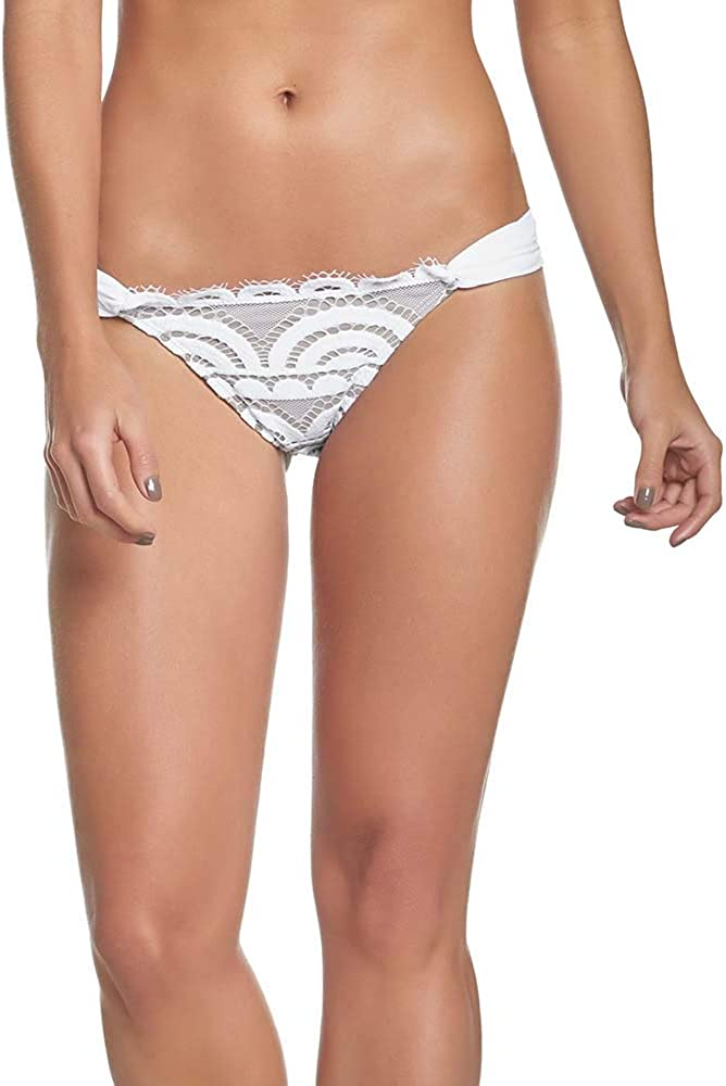 PilyQ Women's Waterlily Lace Fanned Teeny Bikini Bottom