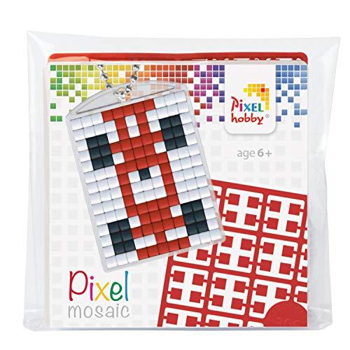 Pracht Creatives Hobby P23024 - Pixel Set Medaillon Rennauto, Schlüsselring, Anhänger, für Kinder, Jungen und Mädchen, ideal als kleines Geschenk, Mitgebsel, für den Kindergeburtstag