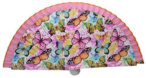 FN9 Diseño de mariposa Abanico flamenco español Abanico plegable Ventilador de mano Abanicos de bambú Abanico español Abanico de bailarines de flamenco