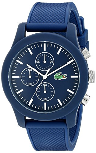 Lacoste 2010824 - Reloj analógico de pulsera para hombre, esfera con cronógrafo, correa de silicona,Azul