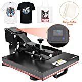 Seeutek Power Heat Press Machine 15' x 15' Industrial Quality Digital Heat Transfer Printing Machine Clamshell Sublimation for T Shirts
