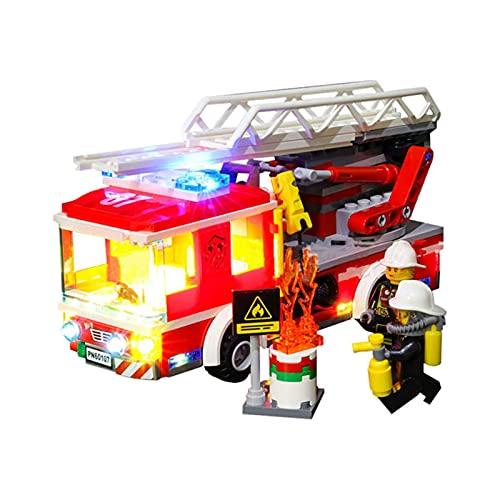 QZPM Kit De Iluminación Led para Lego City Camión De Bomberos con Escalera, Compatible con Ladrillos De Construcción Lego Modelo 60107 (NO Incluido En El Modelo)