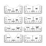 Guía De Regla De Camiseta, Herramienta De Alineación De Camiseta para Colocación De Vinilo, Regla De Guía De Camiseta para Prensa Térmica, Regla De Camiseta para Alineación Y Medición De Vinilo