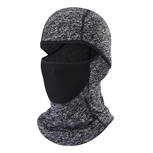 Balaclava Ski Mask Windproof and Warmer Fleece Cold Weather Face Mask Perfect Performance in Winter for Skiing Snowboarding Motorcycling Gray