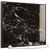 STEINFELD Glas Bild Infrarotheizung   Deutscher Hersteller   Marmor 350-1200 Watt Rahmen schwarz (500 Watt, 069 Marmor Schwarz)