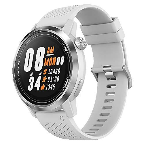 COROS Apex Premium Multisport Reloj Entrenador Ultra Durable duración de la batería – Cerámica/Titanio | Monitor de Ritmo cardíaco | Barómetro, Altímetro, Brújula | Conexiones Ant BLE, Blanco, 46 mm