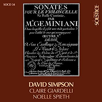 Geminiani: The 6 Sonatas for Cello and Continuo, Op. 5
