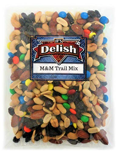 Classic Trail Mix with M&Ms by Its Delish, 5 lbs Bulk | Gourmet Chocolate M and M Trail Mix with Dried Fruit and Nuts