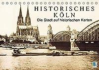 Historisches Koeln - Die Stadt auf historischen Karten (Tischkalender 2022 DIN A5 quer): Koeln: Tradition und Stadtgeschichte (Monatskalender, 14 Seiten )