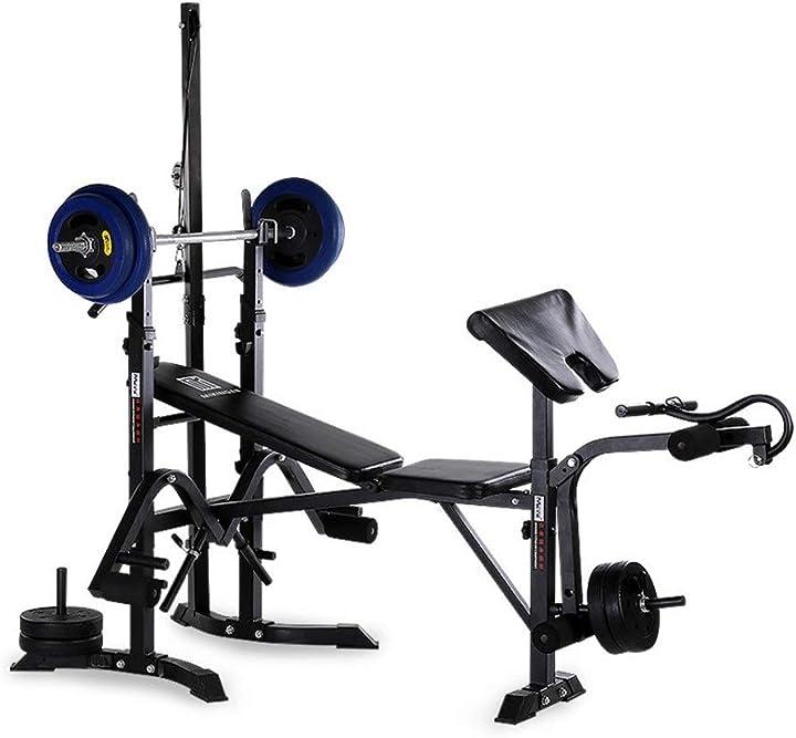 Palestra completa in casa- stazione gym - home gym - attrezzatura per allenamento - panca pesi B08P89K2KV