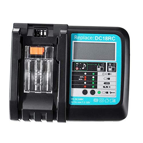 Rápida de Iones de Litio Cargador de batería BL1830 BL1840 BL1850 por 14.4V 18V Makita batería DC18RC - Enchufe de EE.UU. Equipo Profesional