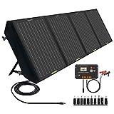 ECO-WORTHY Panel Solar Plegable de 120W para Estación de Energía Portátil y batería de RV, salida de CC para generador solar, con controlador de 20 A para SLA/Batería de litio de ciclo profundo