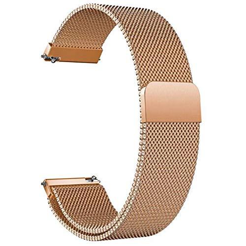 Correa Reloj 20mm 22mm Correa Milanesa Reloj de Acero Inoxidable Correa Malla Reloj Magnética Reemplazo de la Banda de Reloj de Pulsera de Acero Inoxidable para Hombres y Mujeres (Oro Rosa, 20mm)