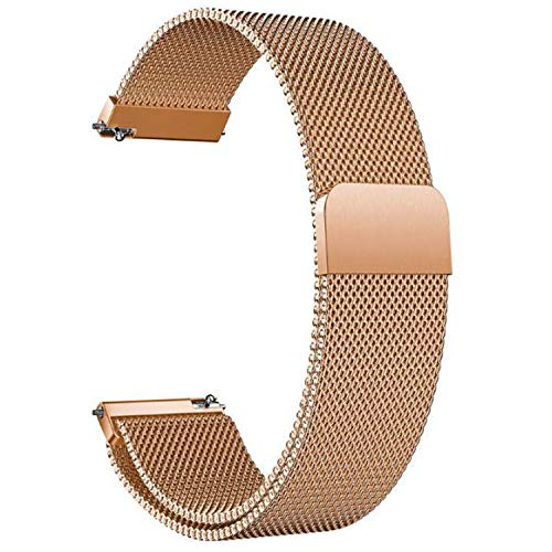 Correa Reloj 20mm 22mm Correa Milanesa Reloj de Acero Inoxidable Correa Malla Reloj Magnética...
