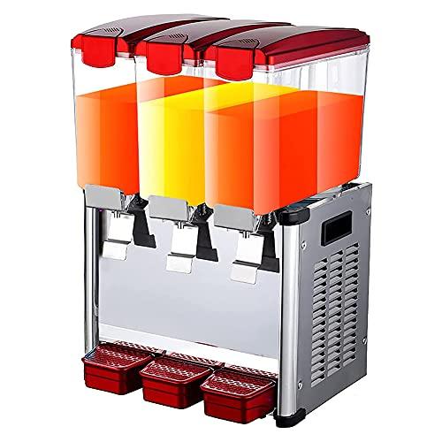 MNSSRN Máquina de Bebidas de Tres Cilindros de Acero Inoxidable, Jugo de Bebida de té Helado frío y Caliente de 9L máquina de Bebidas frías de Restaurante en casa