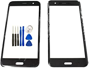 Screen Glass Panel Lens Replacement for HTC U11 - Black Outer Front Screen HTC U11 Glass Panel Lens Replacement for HTC U11 Opening Tools (Not LCD &Not Digitizer)