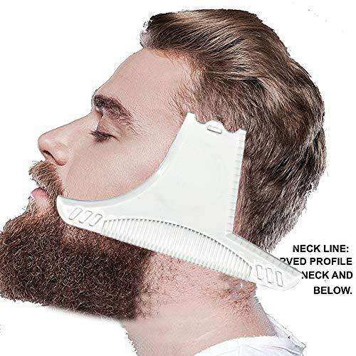 Redcolourful Männer-Bart, der Schablonen-Kamm für Haar-Bart-Ordnungs-Vorlagen formt