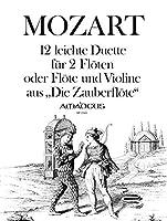 """MOZART - Duos Faciles (12) de """"La Flauta Magica"""" para 2 Flautas (Flauta y Violin) (Morgan)"""