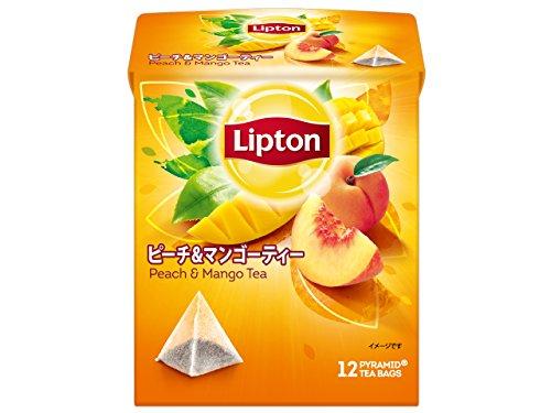 リプトン ピーチ&マンゴーティー ティーバッグ 12袋×6箱