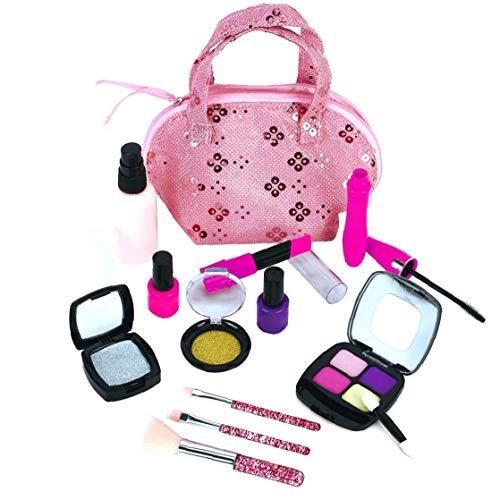 shentaotao El cosmético Portable del Maquillaje de los niños Maleta de Manera Segura el Juego de simulación de Juguetes educativos Puntales Interactivo para niñas