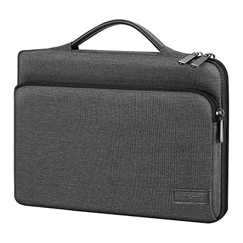 MoKo 9-11 Inch Tablet Sleeve Bag Carrying Case with Retractable Handle Fits iPad Pro 11 2021/2020/2018, iPad 9th 8th 7th Generation 10.2, iPad Air 4 10.9, iPad 9.7, Galaxy Tab A 10.1, Black & Gray