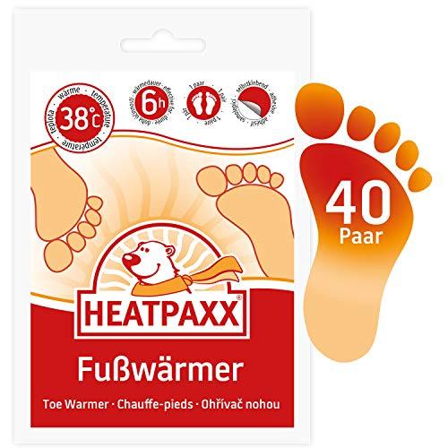 HeatPaxx Fußwärmer | 40 Paar | EXTRA WARM | Hauchdünne Zehenwärmer, Wärmpads | für unterwegs und daheim