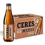 Ceres Unfiltered – Birra non filtrata morbida al palato, 6,9% vol. 24 bottiglie x 33cl