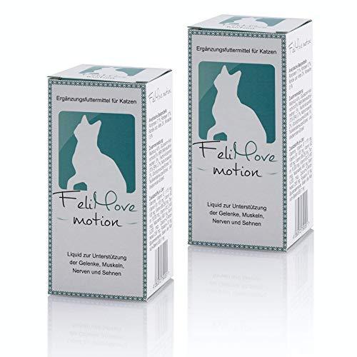 FeliMove 2 Packungen Motion (2 x 60 ml) Ergänzungsfuttermittel für Junge und alte Katzen mit Problemen von Gelenken, Sehnen, Bändern oder Knochen.