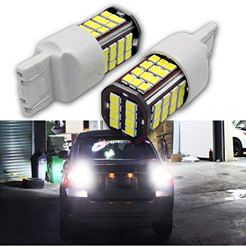 Ruiandsion Lot de 2 ampoules LED 7443 7440 super lumineuses 24 V 3030 56SMD LED pour feux de recul, feux stop, feux de stationnement, feux de recul