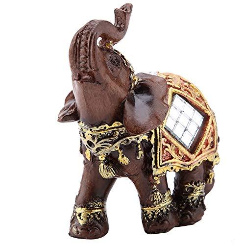 Estatua de Elefante de la Suerte de la Riqueza, Estatua de Elefante de Grano de Madera de Feng Shui de la Suerte, Escultura de la Riqueza, estatuilla, Regalo, decoración del hogar(#3)