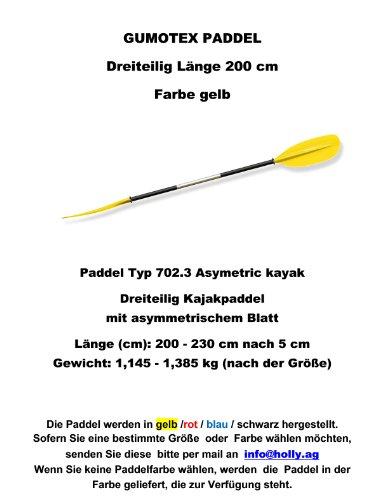 Stabielo Product® – rubberboten – GUMOTEX – 3 – DELIGE RAFTING ASYMETRISCHE PADDEL 230 – 200 cm (grootte aangeven) voor slang kajaks Stabilo ® – Slang kajaks paddel voor camping-caravan-outdoor-vrije tijd – VERTIEF HOLLY Holly ® Producten Stabilo ® - Innovaties made in Germany - Holly ® producten Stabilo ® - Holly-sunshade ® leverbaar kleuren - zwart - geel - rood - blauw - volgens Afbeelding