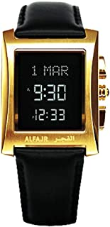 الساعة الكلاسيكية مع سير جلد طبيعي من الفجر/ ديجيتال دبليو إل-08 إل اللون الفضي